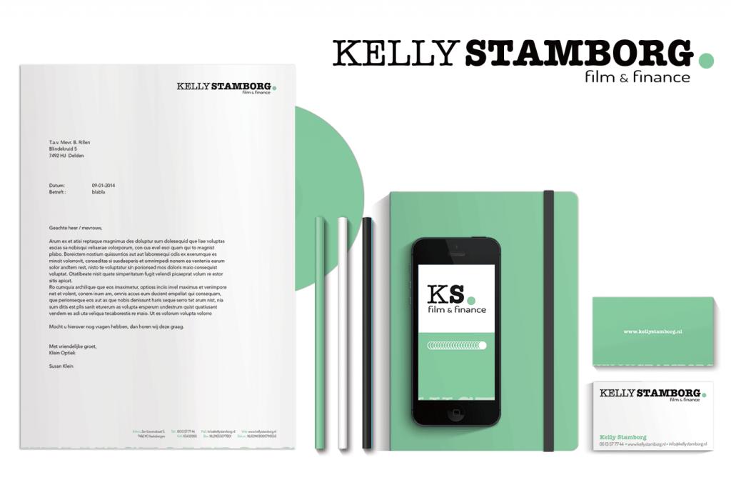 Kelly Stamborg huisstijl ontwerp