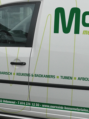 Autobelettering Morssink Bouwmaterialen